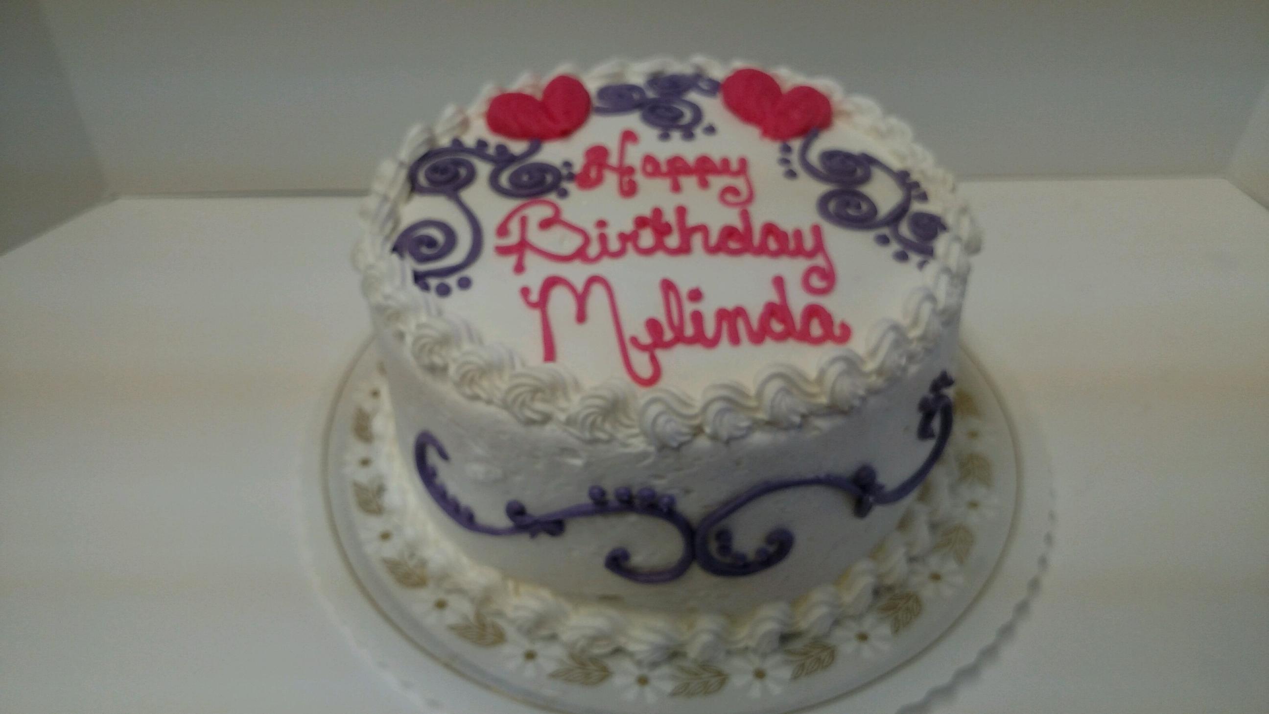 Happy Birthday Hearts Cake Kennedy S Bakery